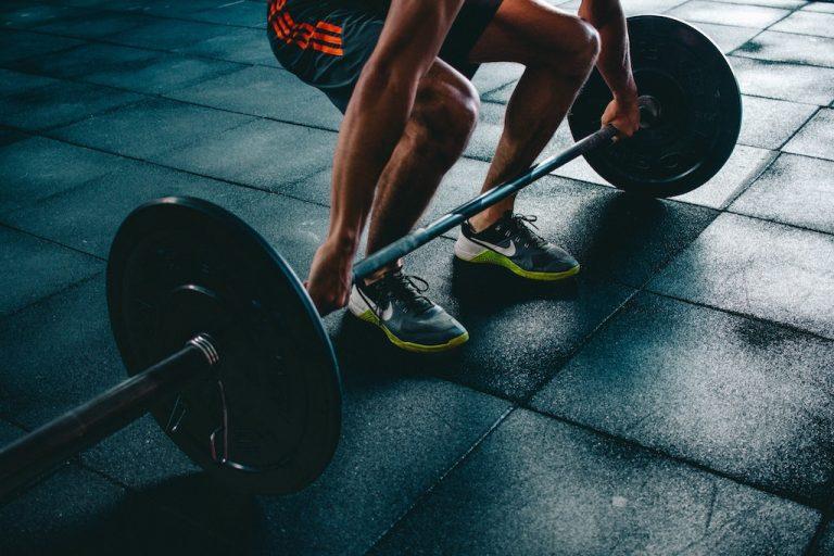 Long jump weights training